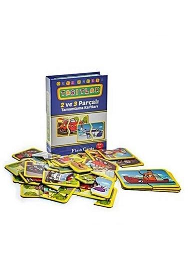 Bunjoy Flash Cards Okul Öncesi Taşıtlar 7192 (Diy-Toy Yayınları) Renkli